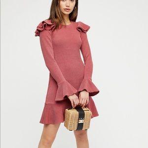 SAYLOR pink chase mini dress